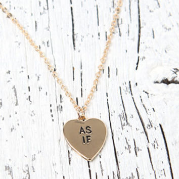 LA Hearts As If Heart Necklace at PacSun.com
