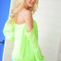 Happily Ever After Top: Neon Green | Hope's