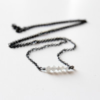 Faceted Diamond Beads Necklace
