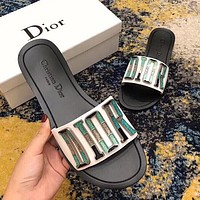 DIOR New Popular Woman Leisure Flat Sandals Slipper Shoes I-ALXY