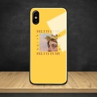 Aesthetics quotes song lyric Memes Tempered Glass Soft Silicon Phone Case Shell Cover For Apple iPhone 6 6s 7 8 Plus X XR XS MAX