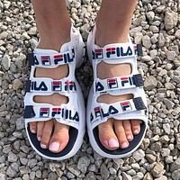 FILA Disruptor Summer Fashion Women Men Casual Hook&Loop Thick Soles Shoes Sandals