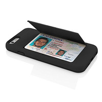 The Solid Black Credit Card STOWAWAY Case for iPhone 6/6s