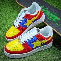 Bape Sta Sneakers Blue Yellow Shoes - Best Online Sale