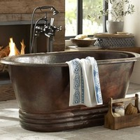 Hand Hammered Copper Bath Tub - $8000