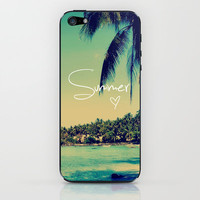 Summer Love Vintage Beach iPhone & iPod Skin by RexLambo | Society6