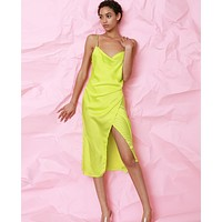 Amore Mio Slip Dress - Lime