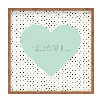 Allyson Johnson Hello Beautiful Heart Square Tray