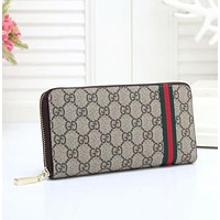 Gucci explosive fashion print zipper trend wild long letter clutch