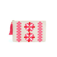 Medallion Embroidered Clutch