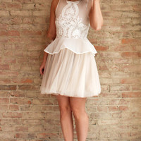 Annetta Lace Dress - White