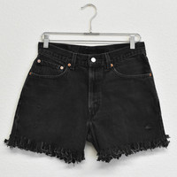 Fringed Levi's Denim Shorts