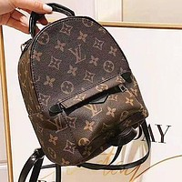 LV Louis Vuitton Classic Women Stylish Mini Daypack School Bag Leather Backpack