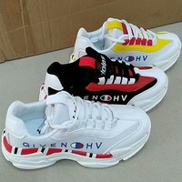 givenchy women casual fashion multicolor letter thick bottom sneakers running shoes