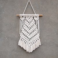 Macrame wall hanging Tapestry Boho interior design Handmade wall decor Weaving wall art Wite tapestry Bedroom wall decor Gift for wife