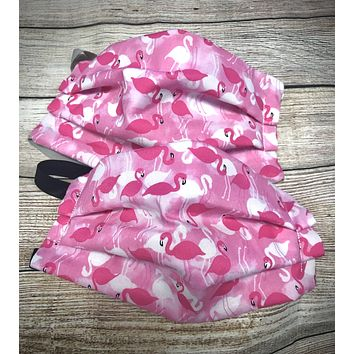 Pink Flamingo Pattern Washable Face Mask - Protective Face Covering