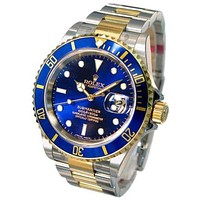 Rolex Blue Watch Men and women models stainless steel watches