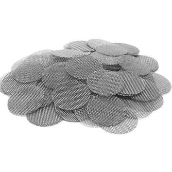 500pcs Thickened Multifunctional Hookah Water Pipe Stainless Steel Tobacco Smoking Metal Filters Smoke Pipe Screen Gauze