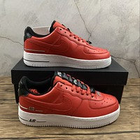 Morechoice Tuhz Nike Air Force 1 07 Lv8 Double Air Pack Laser Crimson Low Sneakers Casual Skaet Shoes Cj1379-600