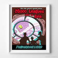 Disneyland 20000 Leagues Under The Sea Print