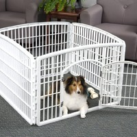 IRIS 24'' Exercise 4-Panel Pet Playpen with Door, White