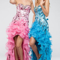 KC14708 High-Low Prom Dress by Kari Chang Couture