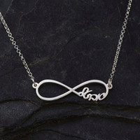 Infinity Necklace - Personalized Hebrew Infinity Necklace - 1'' silver pendant - Infinity Jewellery great gift for her & him