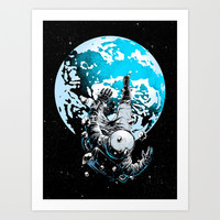 The Lost Astronaut  Art Print by Carbine