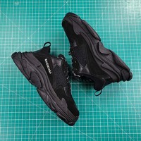 Balenciaga Triple-S Sneaker 17FW All Black Casual Shoes