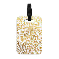 "Pom Graphic Design ""Inca Gold Trail"" Yellow Brown Decorative Luggage Tag"