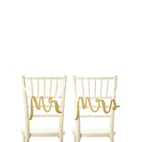 Kate Spade New York Mr. and Mrs. Chair Signs