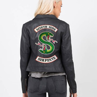 IRON ON PATCH Riverdale Jacket diy South Side Serpants Embroidery Patch Serpant Jughead Cole Sprouse Halloween Costume