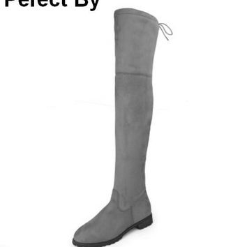 ladies chaussure femme fashion women winter shoes woman zapatos mujer girls sapato feminino snow over-the-knee boots P170161