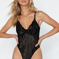 Sheer Genius Lace Bodysuit