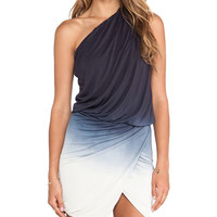 Young, Fabulous & Broke Sway Dress Ombre in Black