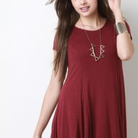 Gored Shift Mini Dress
