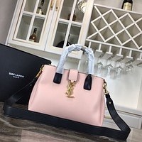 YSL Women Leather Shoulder Bag Satchel Tote Bag Handbag Shopping Leather Tote Crossbody