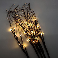 Decorative LED Light Branches, Warm White, 34-Inch, 5-Count