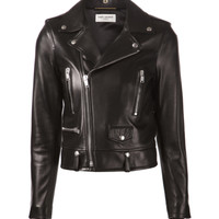 Saint Laurent Leather Biker Jacket | Kirna Zabete