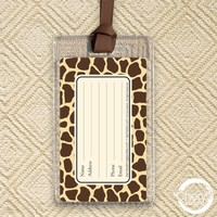 2 FOR 1 SALE -- Luggage Tags - Giraffe