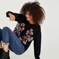 FLORAL RUBBERISED T-SHIRT