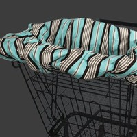 Aqua Ticking Shopping Cart Cover for On The Go Baby