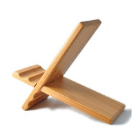 Natural wood Bamboo hard Panel stand for iPhone,iPad,SamSung mobile phone,Tablet PCs, eReaders, Artwork and more (bamboo)