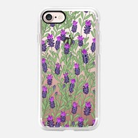 April blooms(lavender-clear) iPhone 7 Case by Kanika Mathur | Casetify
