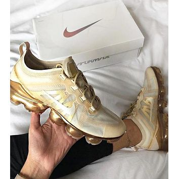 NIKE AIR VAPORMAX Fashion New Hook Print Women Men Running Leisure Shoes