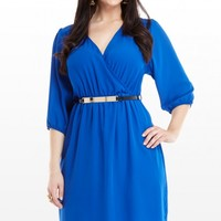 Plus Size Blue Angel Chiffon Dress | Fashion To Figure