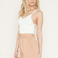 Caged Cable Knit Crop Top