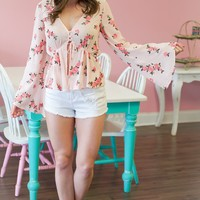 Blush Babe Floral Top
