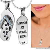 """""""Always At Your Side"""" Sterling Necklace"""