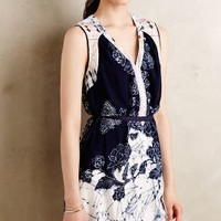 Belted Seyla Tunic by one.september Blue Motif